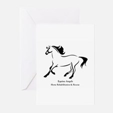 equine angels logo 1 Greeting Cards