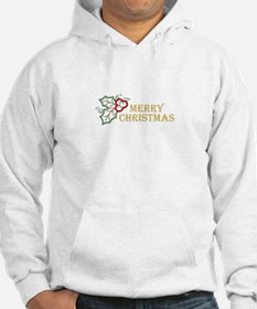 MERRY CHRISTMAS APPLIQUE Hoodie