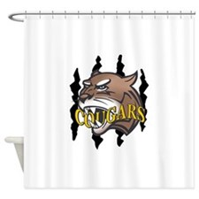 COUGARS AND CLAW MARKS Shower Curtain