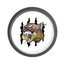 COUGARS AND CLAW MARKS Wall Clock