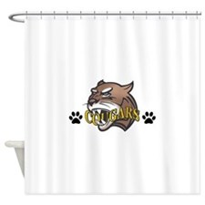COUGAR WITH PAW PRINTS Shower Curtain