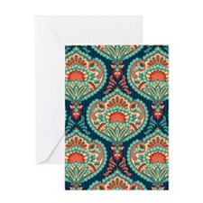 Ornate Paisley Pattern Greeting Cards