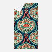 Ornate Paisley Pattern Beach Towel