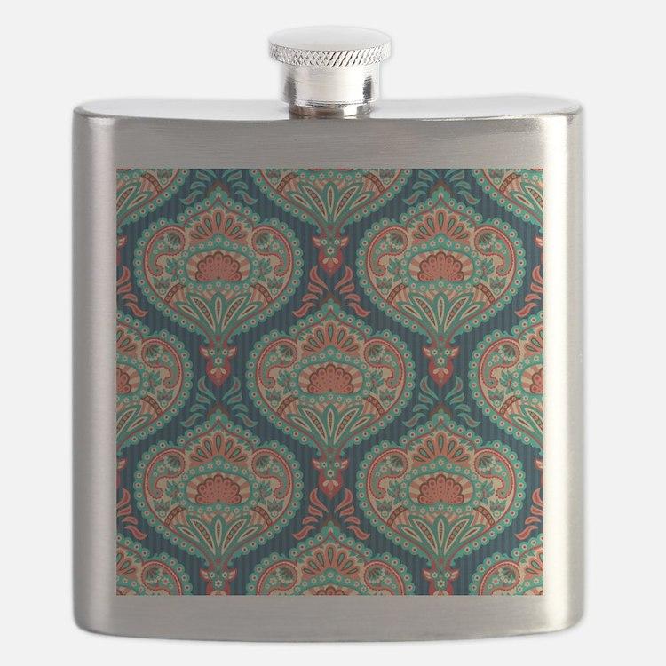 Ornate Paisley Pattern Flask