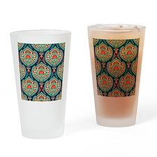 Ornate Paisley Pattern Drinking Glass