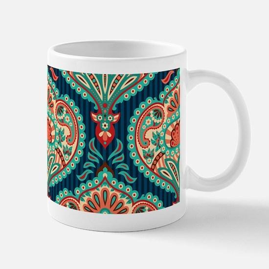 Ornate Paisley Pattern Mugs