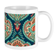 Ornate Paisley Pattern Mugs