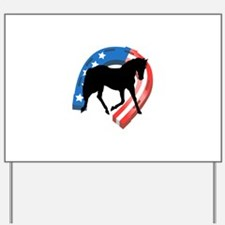 AMERICAN HORSE SHOE Yard Sign