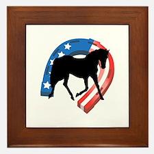 AMERICAN HORSE SHOE Framed Tile