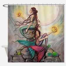Cute Mermaid Shower Curtain