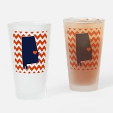 Unique State of alabama Drinking Glass