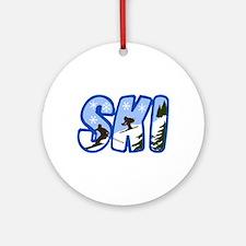 SKI MONTAGE Ornament (Round)