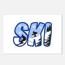 SKI MONTAGE Postcards (Package of 8)