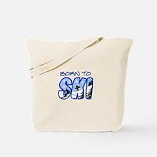 BORN TO SKI Tote Bag