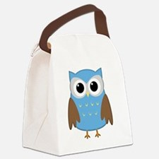 blue owl png.png Canvas Lunch Bag