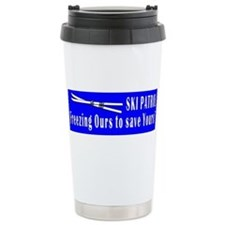 Cute Ski hill Travel Mug