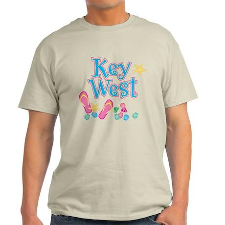 Key West Flip Flops - Light T-Shirt