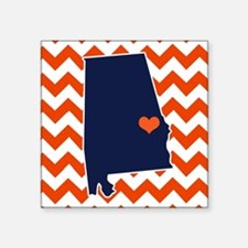 "Cute Auburn Square Sticker 3"" x 3"""