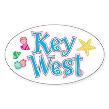 Key West Flip Flops - Oval Decal
