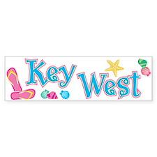 Key West Flip Flops - Bumper Bumper Sticker