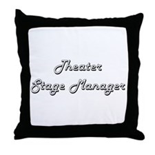 Theater Stage Manager Classic Job Des Throw Pillow