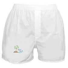 ISLAND TIME APPLIQUE Boxer Shorts