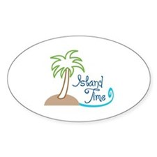 ISLAND TIME APPLIQUE Decal