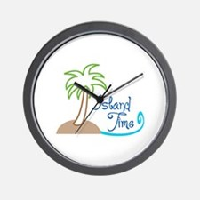 ISLAND TIME APPLIQUE Wall Clock