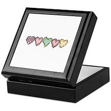 HOMESPUN HEARTS BORDER Keepsake Box