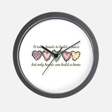 ONLY HEARTS CAN BUILD A Wall Clock