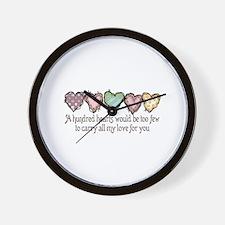 A HUNDRED HEARTS Wall Clock