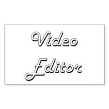 Video Editor Classic Job Design Decal
