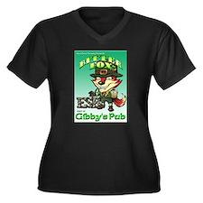 Vintage Bitter Fox - Black Plus Size T-Shirt