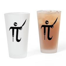 Pirate Pi Drinking Glass