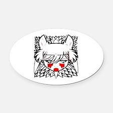 wolf princess Oval Car Magnet