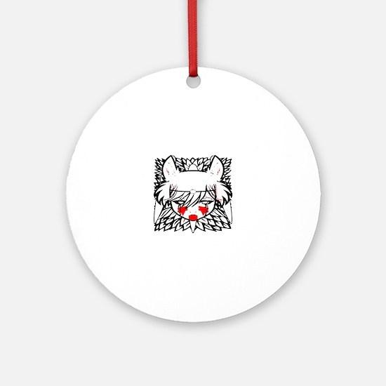 wolf princess Round Ornament