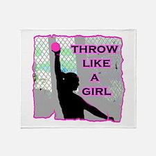 Throw like a Girl Throw Blanket
