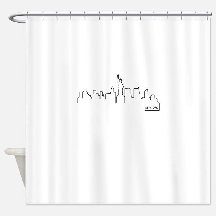 New York cityscape Shower Curtain