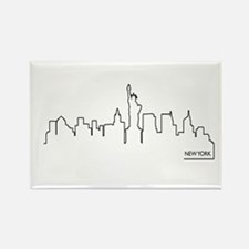 New York cityscape Magnets