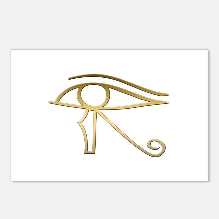 Eye of Horus Egyptian sym Postcards (Package of 8)