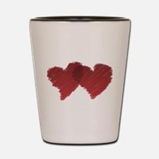Connected Love Hearts Shot Glass