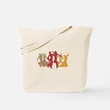Colorful Flamenco Dancers Tote Bag