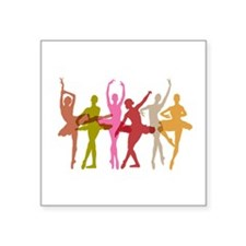 Colorful Dancing Ballerinas Sticker