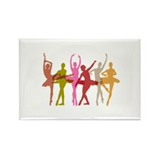 Colorful Dancing Ballerinas Magnets