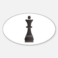 Black queen chess piece Decal