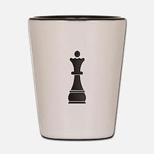 Black queen chess piece Shot Glass