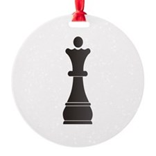 Black queen chess piece Ornament