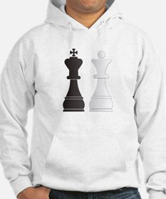 Black king white queen chess pie Hoodie