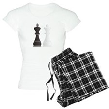 Black king white queen ches Pajamas
