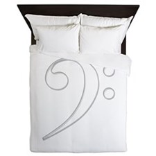 Bass clef Queen Duvet